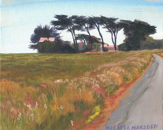Point Cabrillo, 8 x 10, acrylic