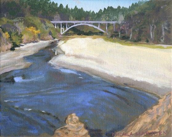 #426   Jughandle Bridge CA 10-154,  10 x 8,  acrylic