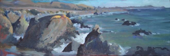 painting of Carmet Beach