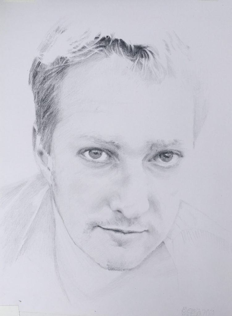 the eyes have it. Pencil portrait.
