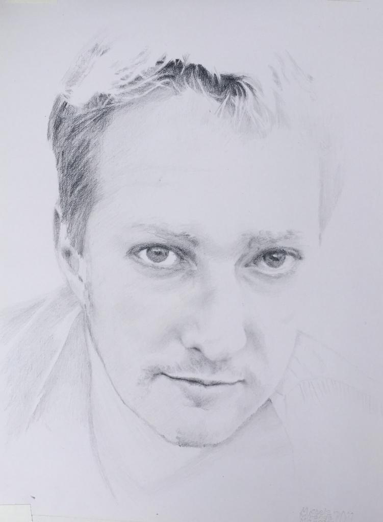 the eyes have it. Pencil portrait.