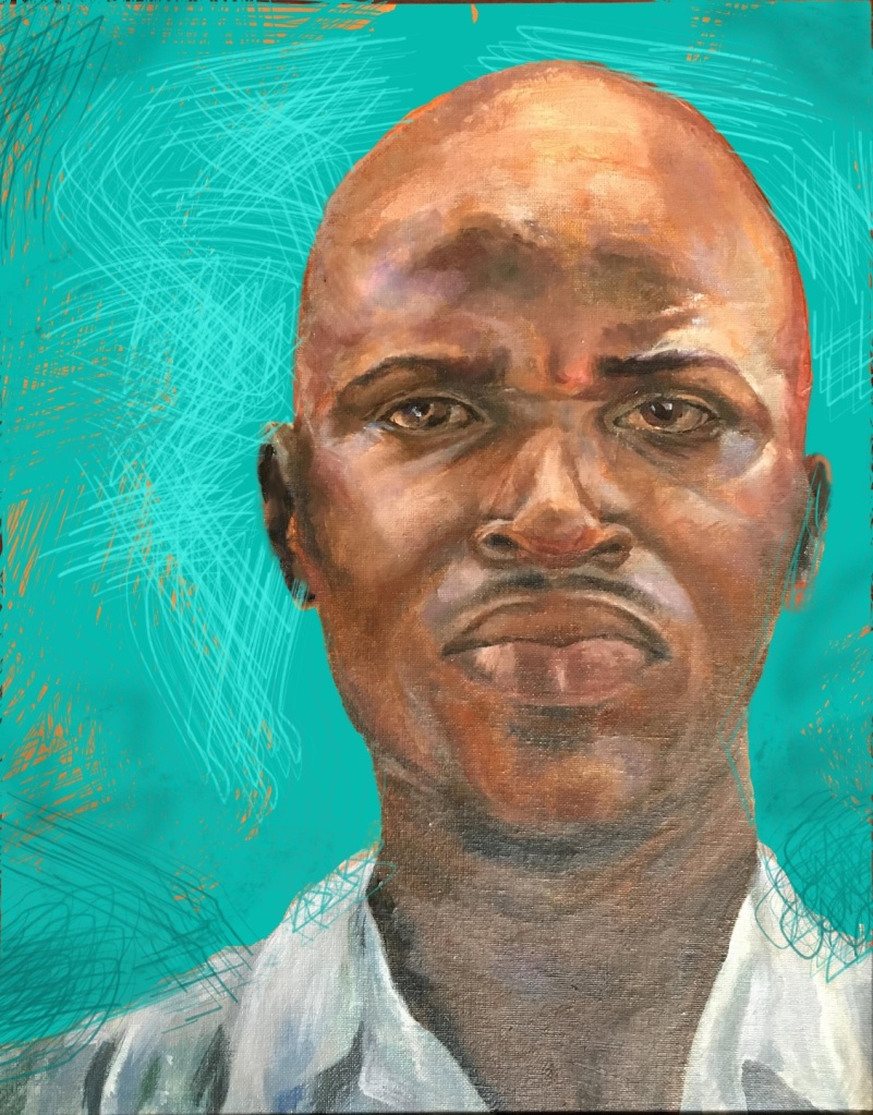 painting of an African man